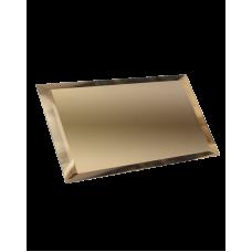 Зеркальная плитка с фацетом прямоугольная бронза