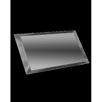 Зеркальная плитка с фацетом прямоугольная графит