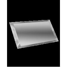Зеркальная плитка с фацетом прямоугольная серебро