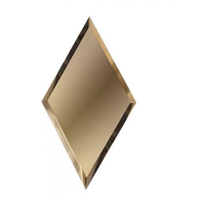 Зеркальная плитка с фацетом ромб бронза