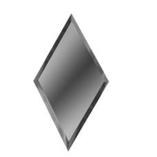 Зеркальная плитка с фацетом ромб графит
