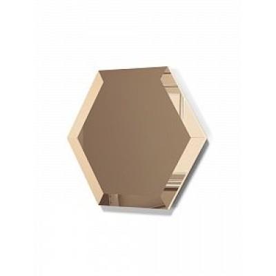 Зеркальная плитка с фацетом сота бронза